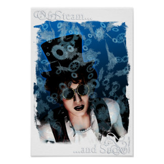"""""""Of Steam and Snow"""" Poster, 13x19 inches Poster"""