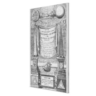 'Of the advancement and proficience of learning' Canvas Print