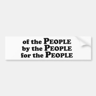 Of_The_People_Multiple_Products Bumper Sticker