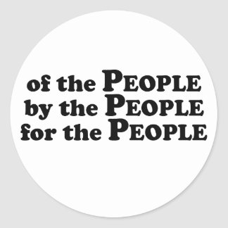 Of_The_People_Multiple_Products Classic Round Sticker
