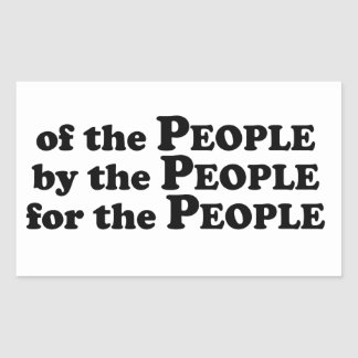 Of_The_People_Multiple_Products Rectangular Sticker