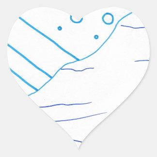 Of Waters Heart Sticker