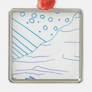 Of Waters Metal Ornament