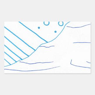 Of Waters Rectangular Sticker