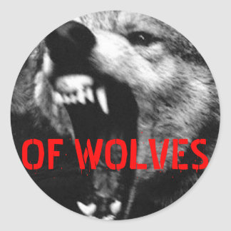 OF WOLVES CLASSIC ROUND STICKER