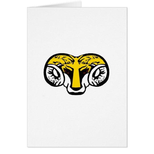 of yellow ram BRUTAL TARMAC sucks Card