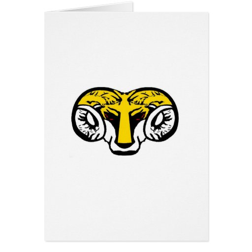 of yellow ram BRUTAL TARMAC sucks Greeting Card