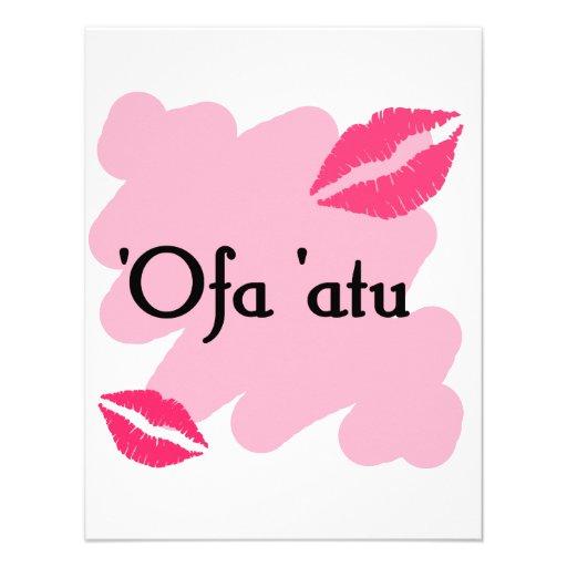 'Ofa 'atu - Tongan I love you Personalized Announcement