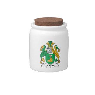 O'Fahy Family Crest Candy Jar