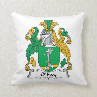 O'Fay Family Crest Throw Pillow