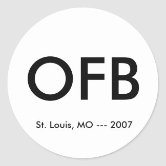 OFB, St. Louis, MO --- 2007 Classic Round Sticker