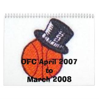 OFC abril de 2007 marzo de 2008 mensual Calendarios De Pared