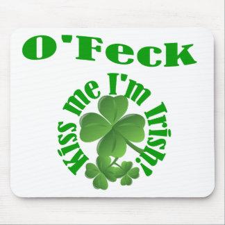 O'Feck, funny Irish surname Mouse Pad