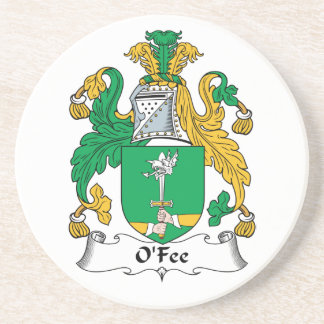 O'Fee Family Crest Beverage Coaster