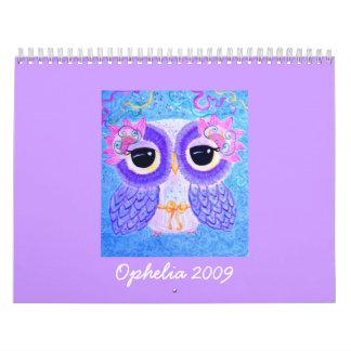 Ofelia 2009 (de fuera de EEUU) Calendario