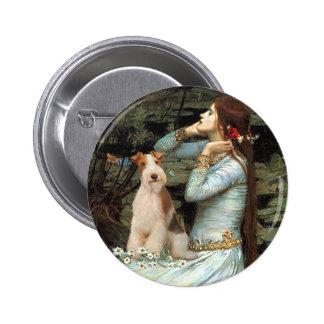Ofelia asentó - el fox terrier 3 del alambre pin redondo 5 cm