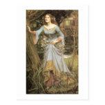 Ofelia con un ramo tarjetas postales