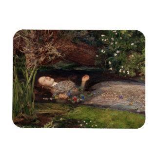 Ofelia de John Everett Millais Imanes Rectangulares