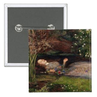 Ofelia de John Everett Millais Pin Cuadrado
