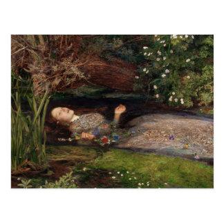 Ofelia de John Everett Millais Postal