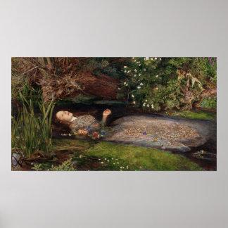 Ofelia de John Everett Millais Póster