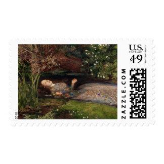 Ofelia de John Everett Millais Sello Postal