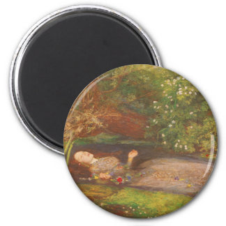 Ofelia del Preraphaelite del Victorian del vintage Imán Redondo 5 Cm