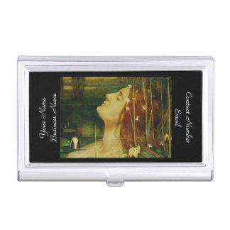 Ofelia entre las flores caja de tarjetas de visita