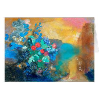 Ofelia entre las flores el | Odilon Redon Tarjeta Pequeña