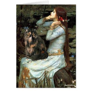 Ofelia - gato de calicó persa felicitación
