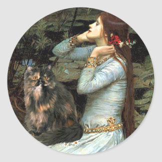 Ofelia - gato de calicó persa pegatina