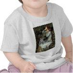 Ofelia - gato gris camisetas