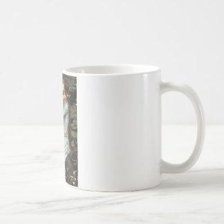 Ofelia - gato persa blanco #13 taza de café