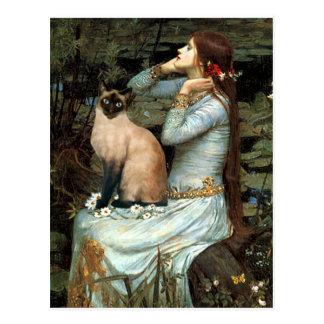 Ofelia - gato siamés del punto del sello postal