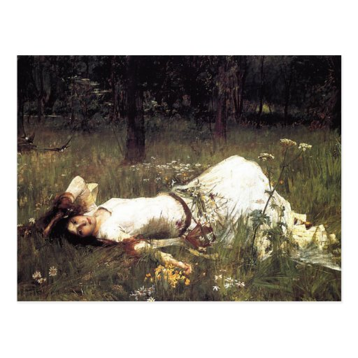 Ofelia - John William Waterhouse Postal