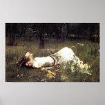 Ofelia - John William Waterhouse Poster