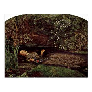 Ofelia por Millais, Juan Everett (la mejor calidad Tarjeta Postal