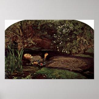 Ofelia por Millais, Juan Everett (la mejor Póster
