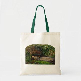 Ofelia por Millais, la bolsa de asas