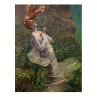 Ofelia que se ahoga, 1895 postal