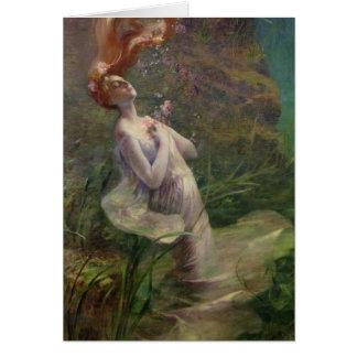 Ofelia que se ahoga, 1895 tarjeta de felicitación