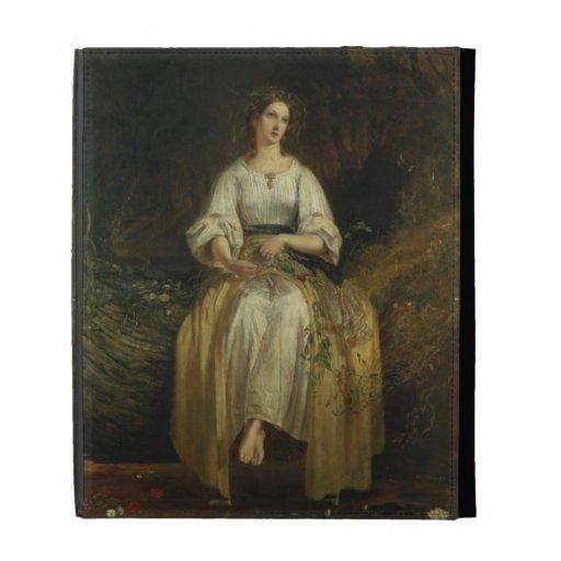 Ofelia que teje sus guirnaldas, 1842 (aceite en el