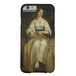 Ofelia que teje sus guirnaldas, 1842 (aceite en el funda barely there iPhone 6