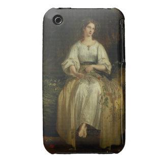 Ofelia que teje sus guirnaldas, 1842 (aceite en el funda bareyly there para iPhone 3 de Case-Mate
