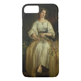 Ofelia que teje sus guirnaldas, 1842 (aceite en el funda iPhone 7