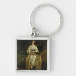 Ofelia que teje sus guirnaldas, 1842 (aceite en el llaveros personalizados