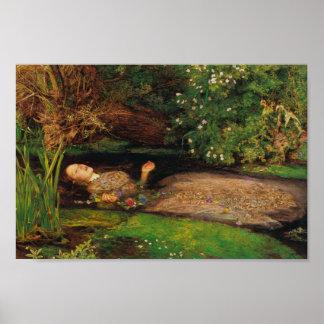 Ofelia - sir John Everett Millais Póster