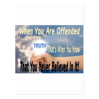 Ofendido por la verdad o el creyente de la verdad postal