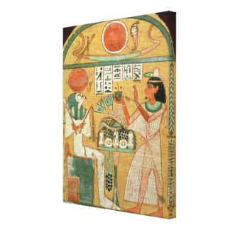 Ofenmut Offering to Osiris, Stele of Ofenmut from Canvas Print
