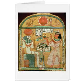 Ofenmut Offering to Osiris, Stele of Ofenmut from Card